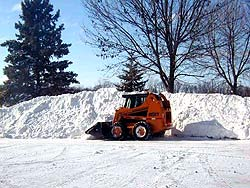 Parking lot snow being removed (MPCA photo)